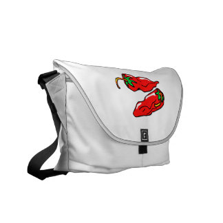 two chili peppers graphic loose courier bags