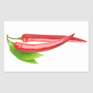 Two chillies with leaf sticker