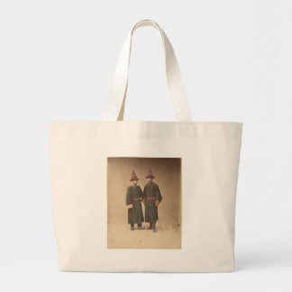 Two Chinese Men in Matching Traditional Dress Large Tote Bag