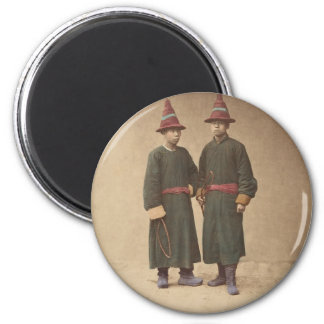 Two Chinese Men in Matching Traditional Dress Magnet