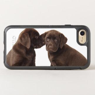Two chocolate Labrador Retriever Puppies OtterBox Symmetry iPhone 7 Case