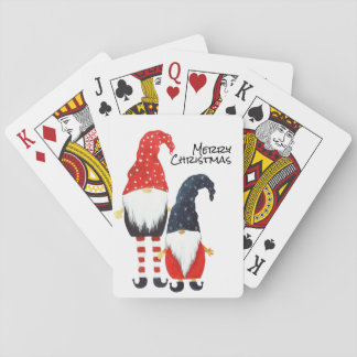 Two Christmas Elf  Playing Cards