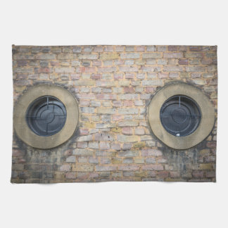 Two circular windows kitchen towel