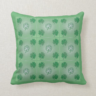 Two clover patterns green pillow