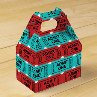 Two color movie ticket party favor box