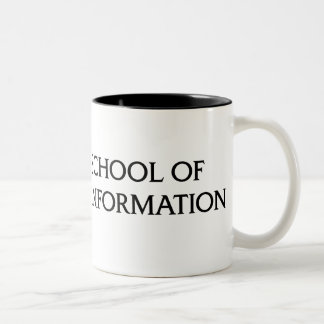 Two-color mug - black iSchool logo