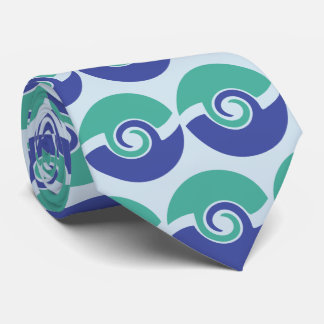 Two color swirls tie