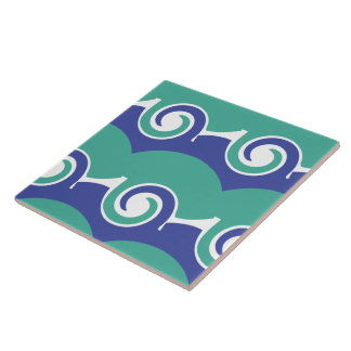 Two color swirls tile