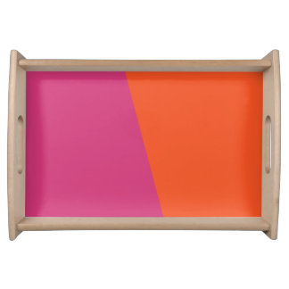 TWO-COLORED ORANGE AND CERISE | SERVING TRAY