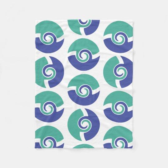 Two colour swirls fleece blanket
