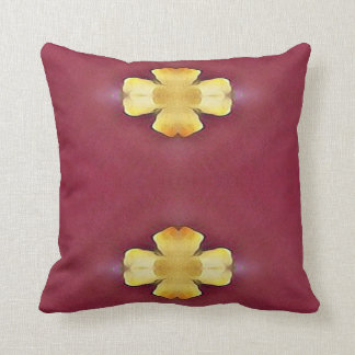 Two Complimentary Rose Yellow Design Throw Pillow