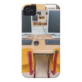 Two computers in classroom on high school iPhone 4 covers
