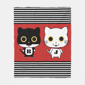 Two Cool Cats Fleece Blanket
