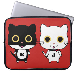 Two Cool Cats Personalized Laptop Sleeve