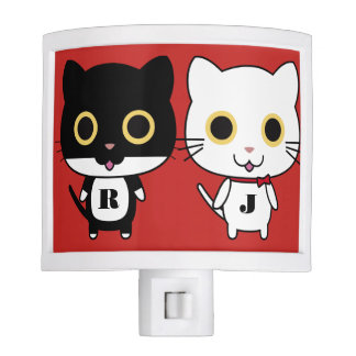 Two Cool Cats Personalized Night Lite