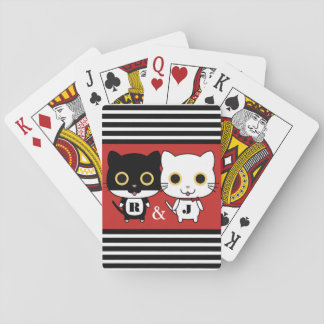 Two Cool Cats Personalized Playing Cards