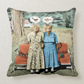 Two Cool Kitties_Whats for Lunch? Pillow