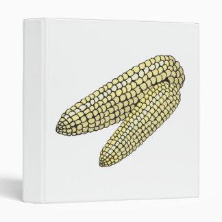 two corn on the cob vinyl binder