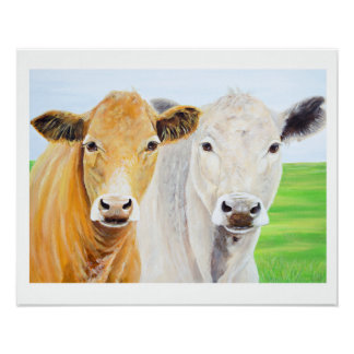 Two Cows For Oklahoma 16 x 20 Print