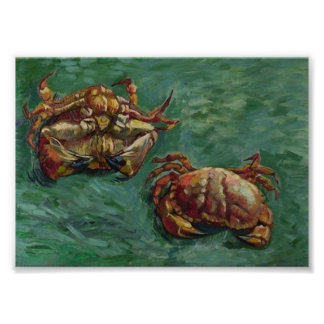 Two Crabs (F606) Van Gogh Fine Art Poster