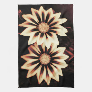 Two Cream Gazanias Kitchen Towel