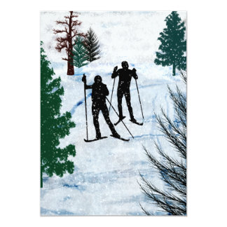 Two Cross Country Skiers Card