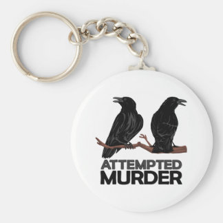 Two Crows = Attempted Murder Key Chain