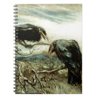 Two Crows Illustration Notebook