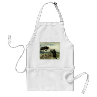Two Crows Illustration Standard Apron