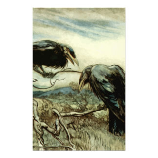 Two Crows Illustration Stationery