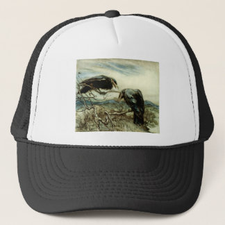 Two Crows Illustration Trucker Hat