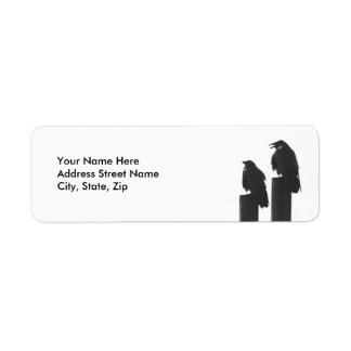 Two Crows Return Address Labels