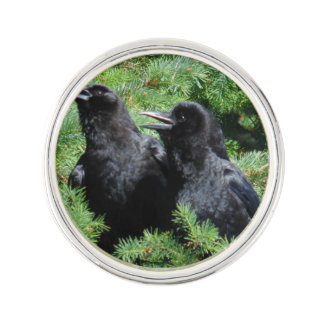 Two Crows Lapel Pin
