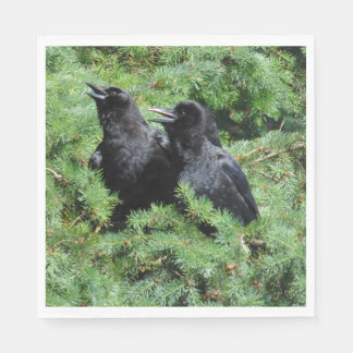 Two Crows Paper Napkin