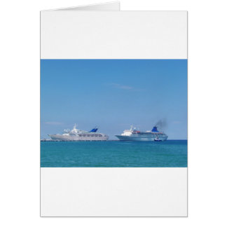 Two Cruise Ships Card