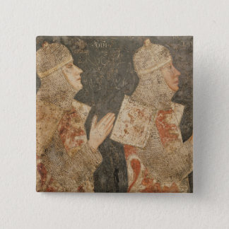 Two crusaders of the Minutolo family 2 Inch Square Button