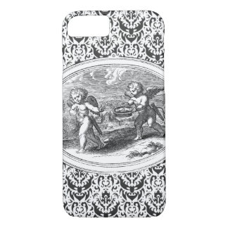 Two Cupids Antique Engraving iPhone 7 Case