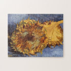 Two Cut Sunflowers by Vincent van Gogh Jigsaw Puzzle