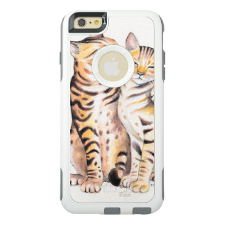 Two Cute Bengal Cats Watercolor art OtterBox iPhone 6/6s Plus Case