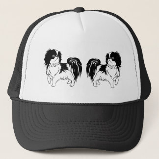 Two Cute Black and White Dogs Hat