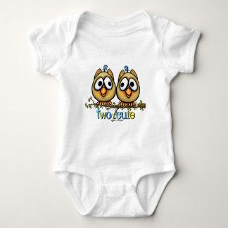 Two Cute Boy Twins Baby Bodysuit