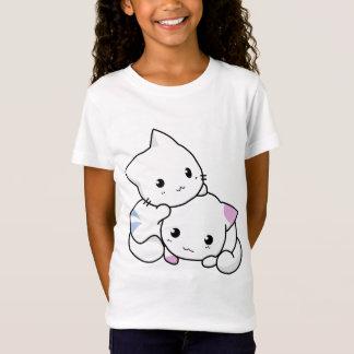 Two Cute Cartoon Kitties T-shirt