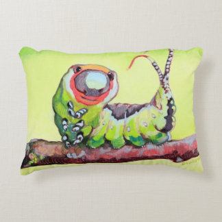 Two Cute Caterpillars Double Sided Decorative Pillow