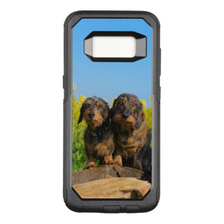Two Cute Dachshunds Dogs Dackel Friends Pet Photo OtterBox Commuter Samsung Galaxy S8 Case