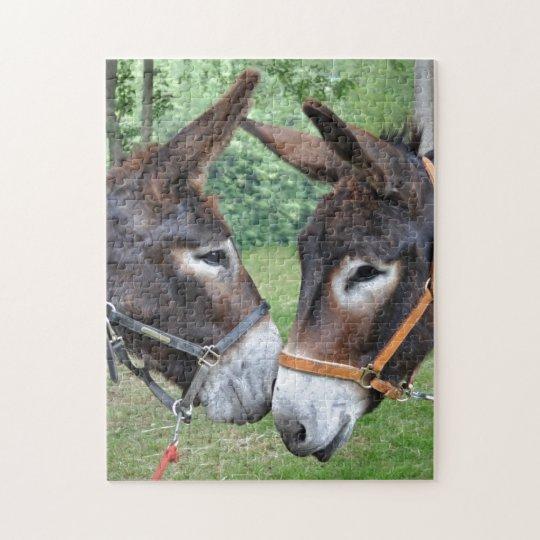 Two cute donkeys jigsaw puzzle