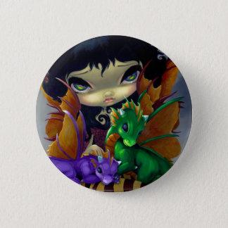 """Two Cute Dragonlings"" Button"