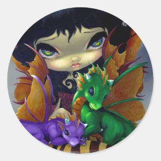 """""""Two Cute Dragonlings"""" Sticker"""