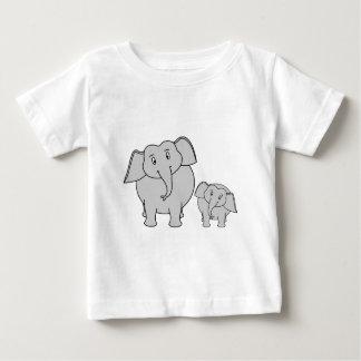 Two Cute Elephants. Cartoon. T Shirt