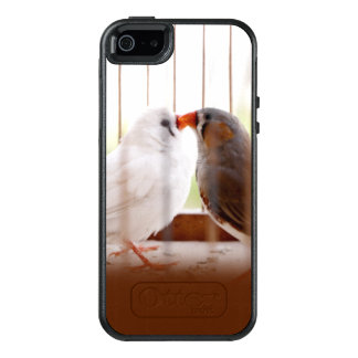 Two Cute Finch Birds in Cage OtterBox iPhone 5/5s/SE Case
