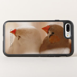 Two Cute Finch Birds in Cage OtterBox Symmetry iPhone 8 Plus/7 Plus Case